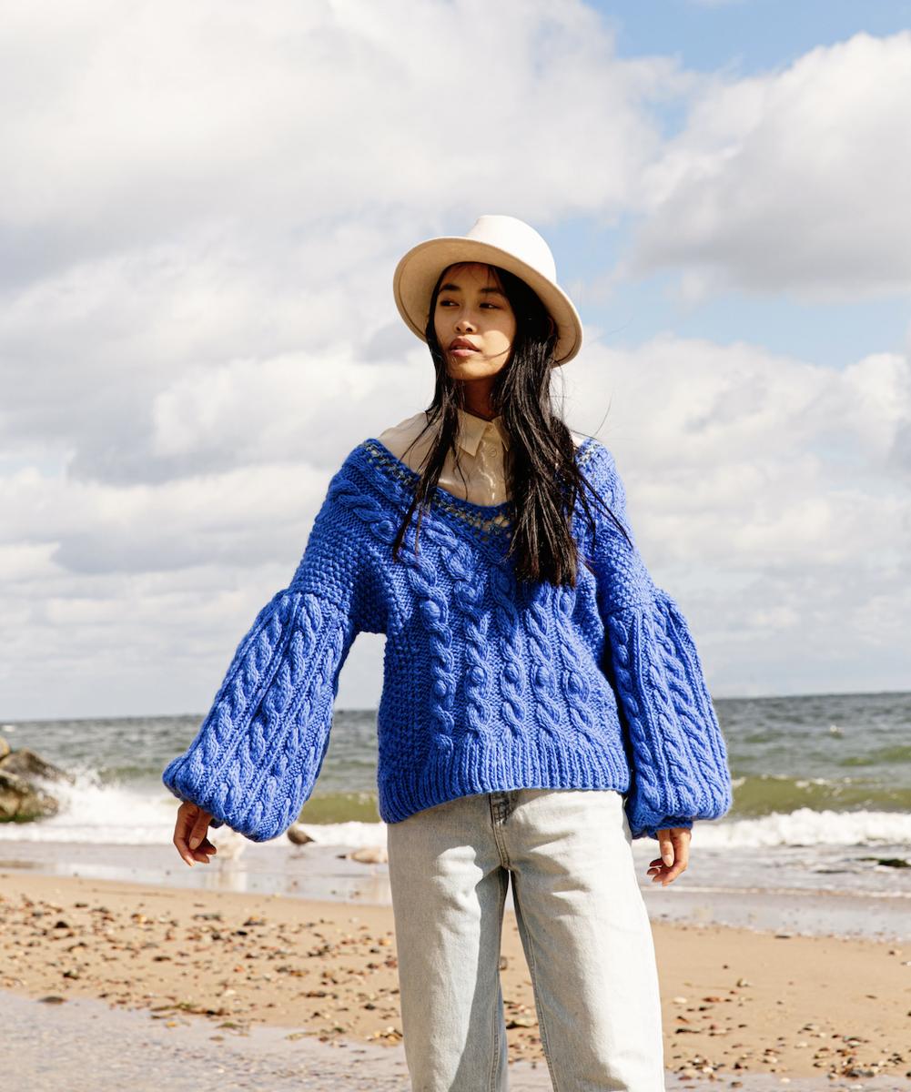 Sweter CAMELEO niebieski